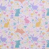 "Easter Bunny Silhouette, Eggtastic Easter Quilting Cotton Collection, 100% Premium Quilting Cotton Fabric, 44"" Wide (111cm), 140GSM"