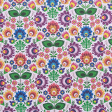 "Animated Floral, Eggtastic Easter Quilting Cotton Collection, 100% Premium Quilting Cotton Fabric, 44"" Wide (111cm), 140GSM"