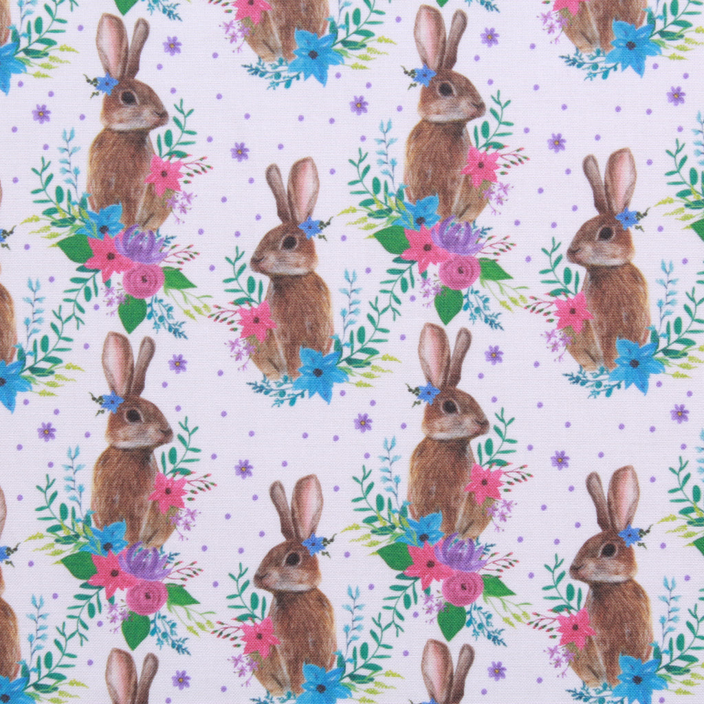 "Vintage Easter Garden, Eggtastic Easter Quilting Cotton Collection, 100% Premium Quilting Cotton Fabric, 44"" Wide (111cm), 140GSM"