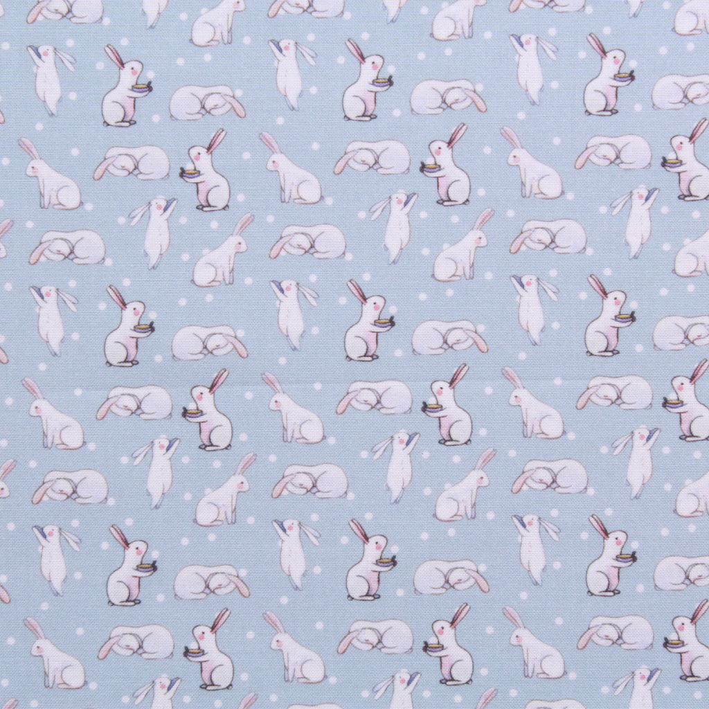 "Polka Dot Hungry Bunny, Eggtastic Easter Quilting Cotton Collection, 100% Premium Quilting Cotton Fabric, 44"" Wide (111cm), 140GSM"