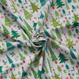 "Festive Christmas Trees 100% Printed Quilting Cotton Poplin, 45"" (112cm) Wide"