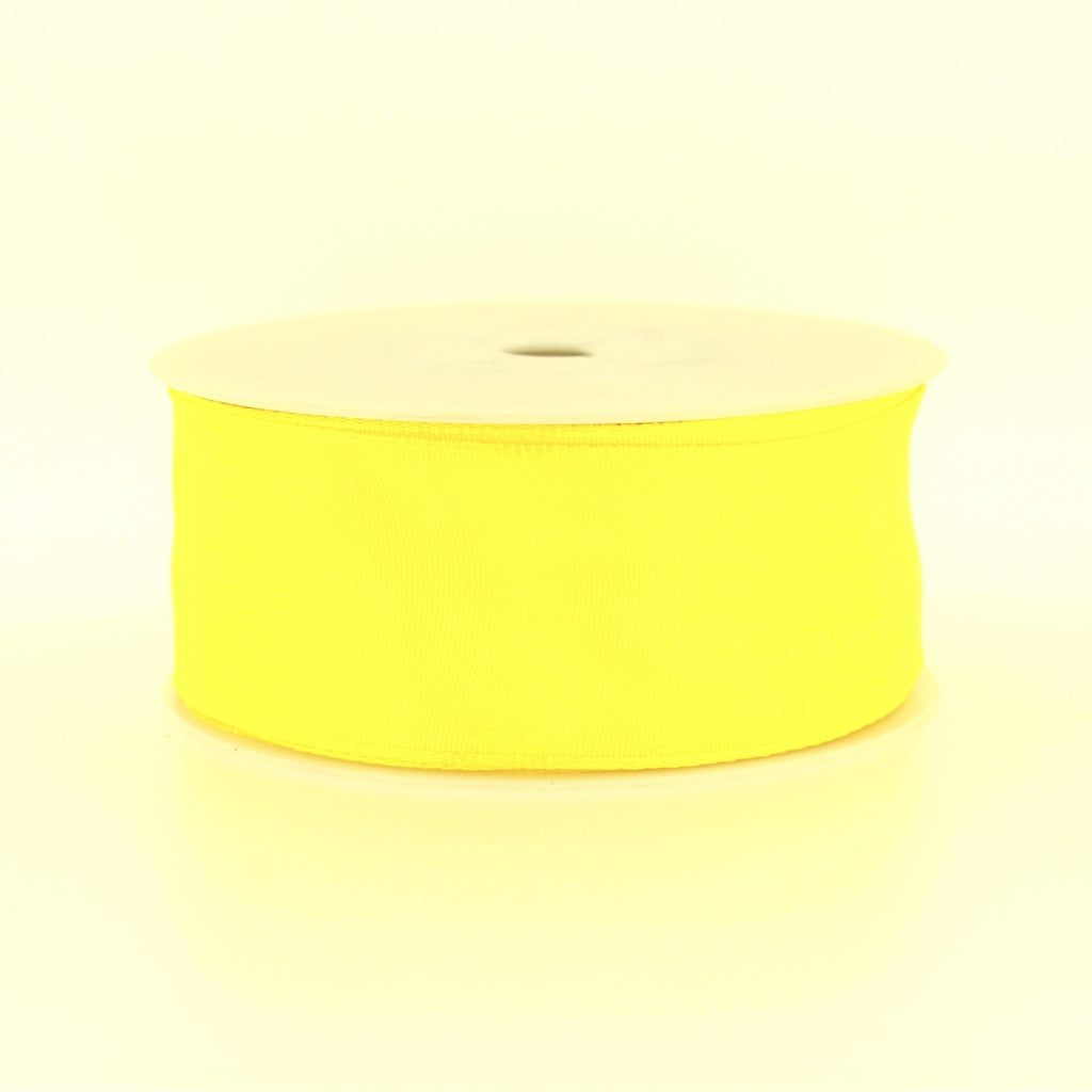 4cm Plain Yellow Polyester Lace