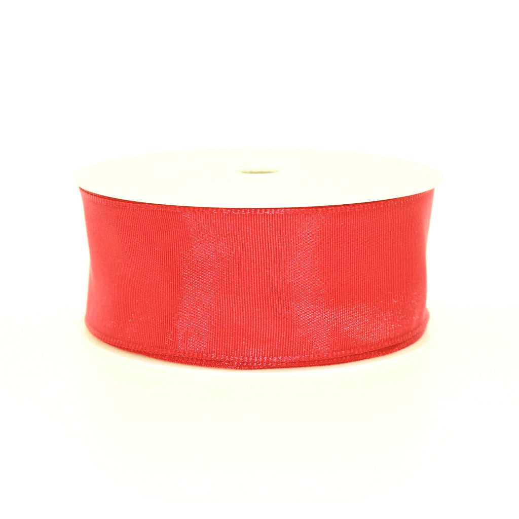 4cm Plain Red Polyester Lace