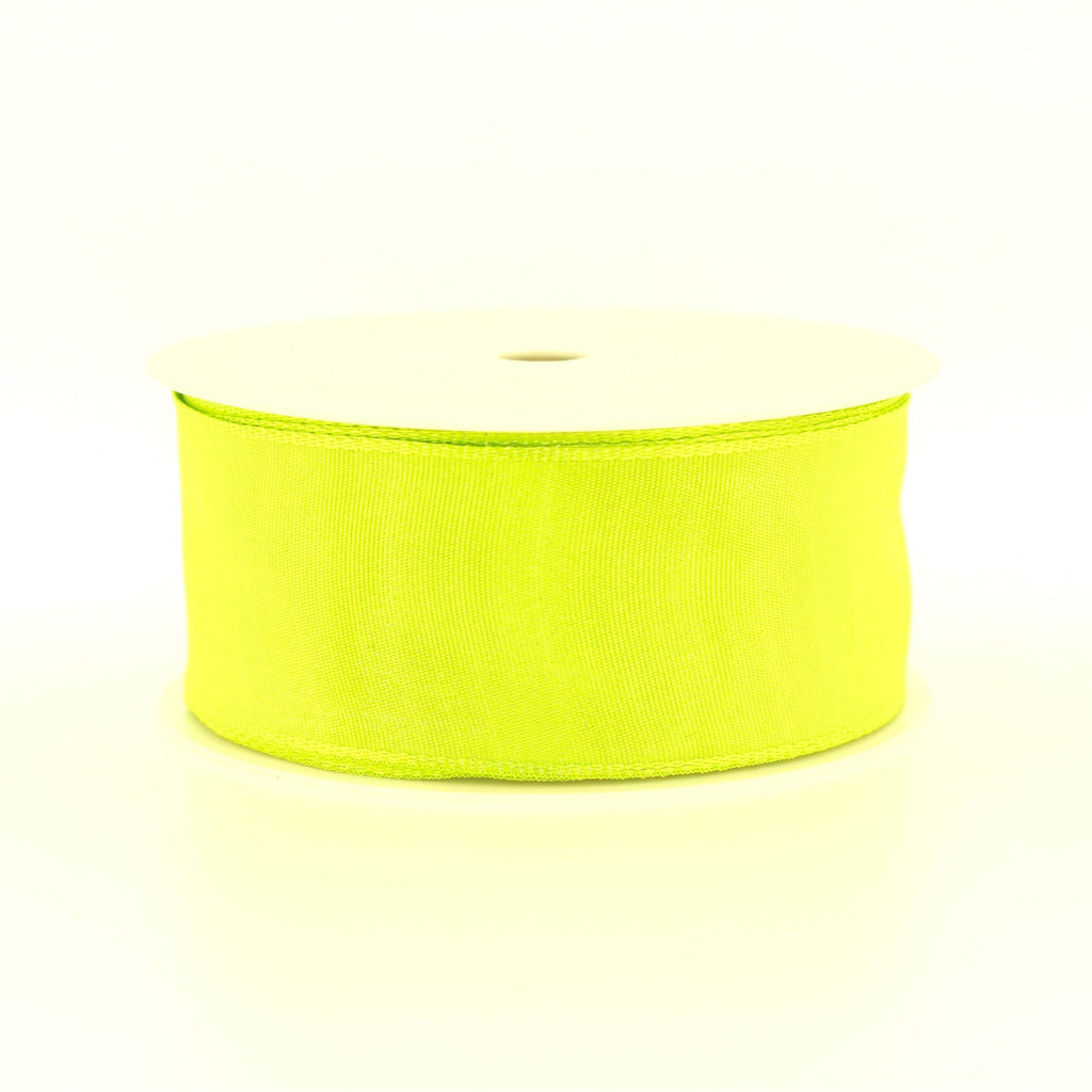 4cm Plain Lime Polyester Lace