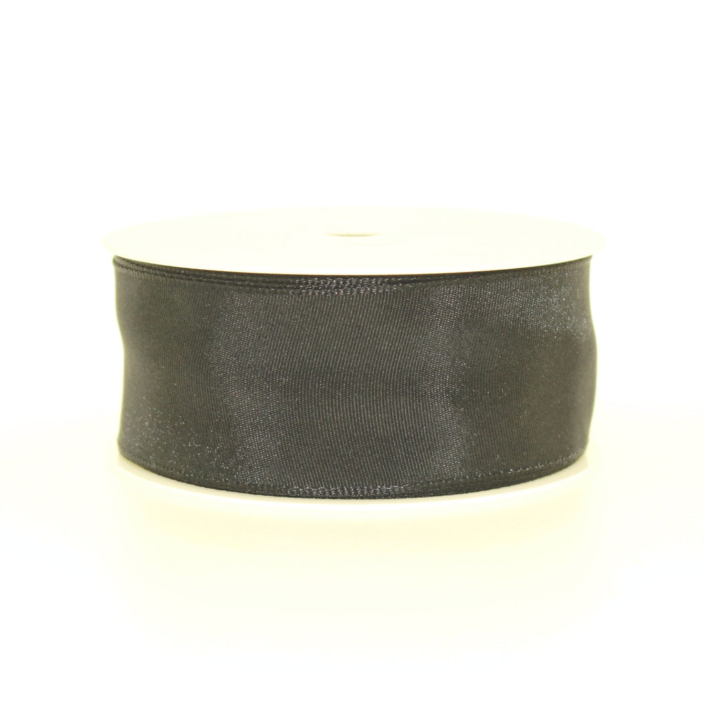 4cm Plain Black Polyester Lace