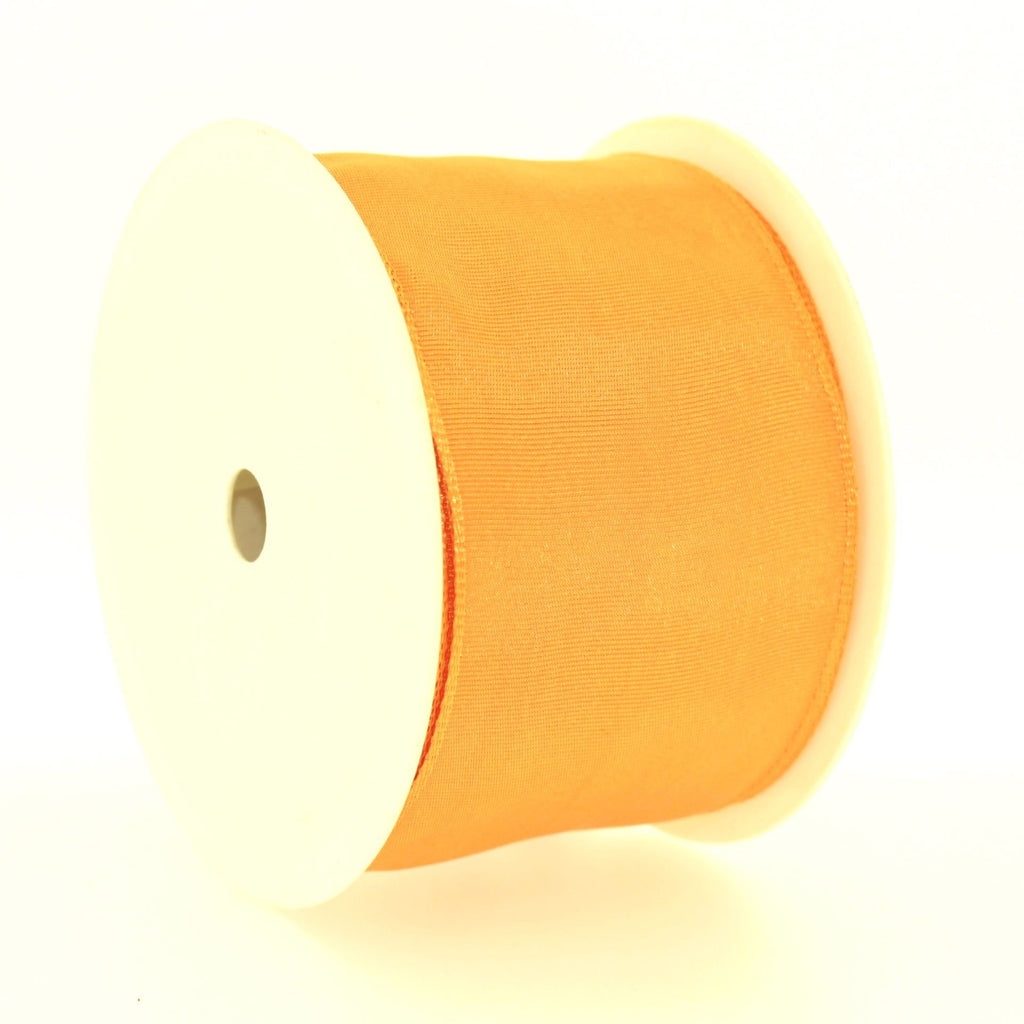 6cm Plain Orange Polyester Lace