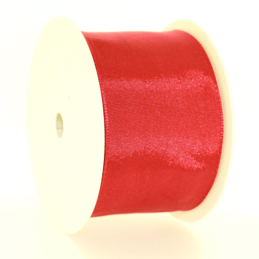 6cm Plain Maroon Polyester Lace