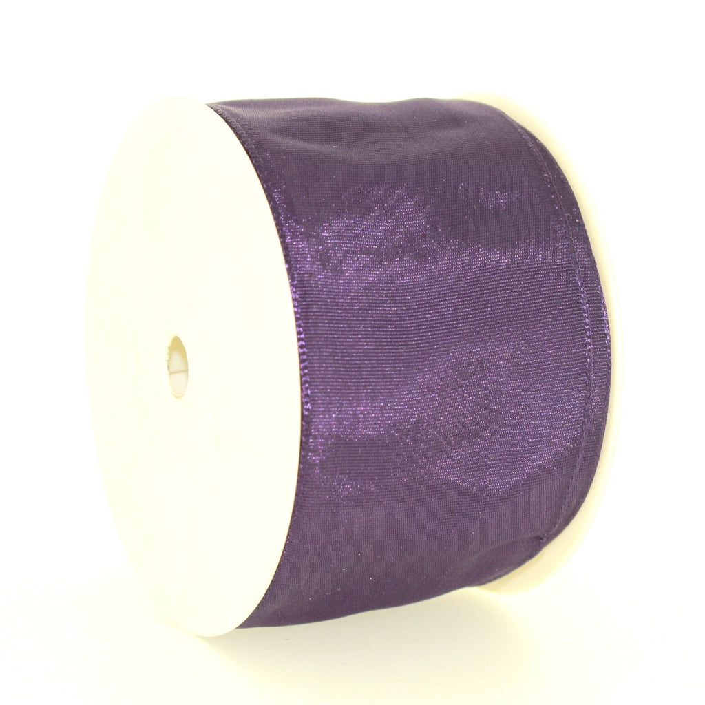 6cm Plain Purple Polyester Lace
