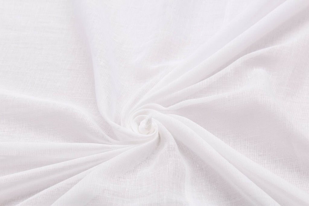 Egyptian Draping Muslin 100% Cotton- White