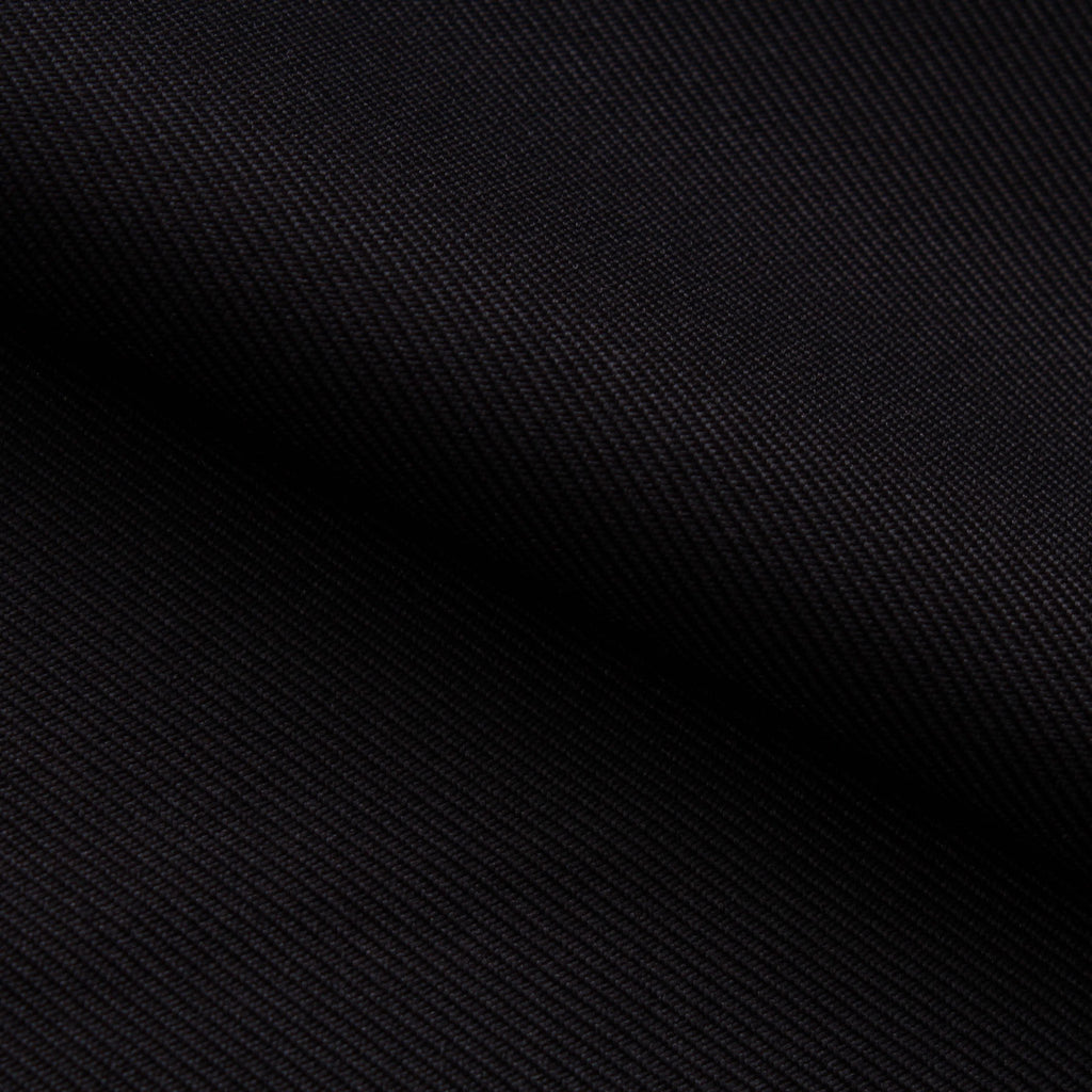 Premium Plain 100% Polyester Twill - Black