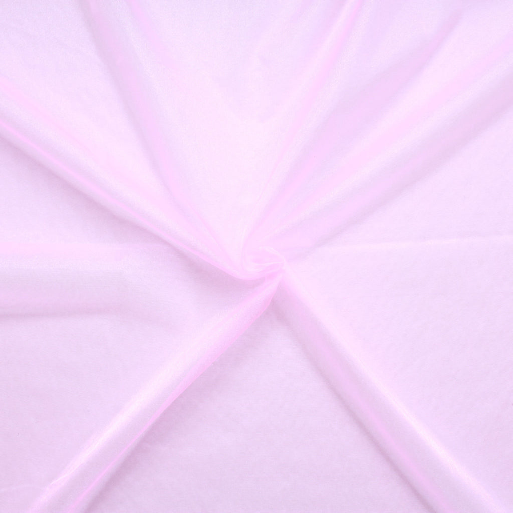 "Plain Shimmer Organza Fabric Pink (Candy) 100% Nylon , 60"" Wide"