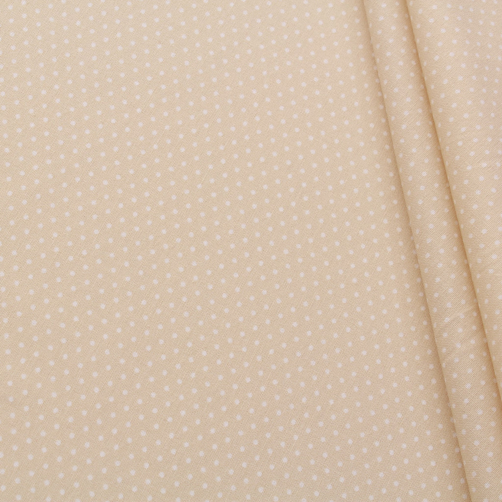 TFG Quilting Cotton, Basic Essentials, White Spots on Gold