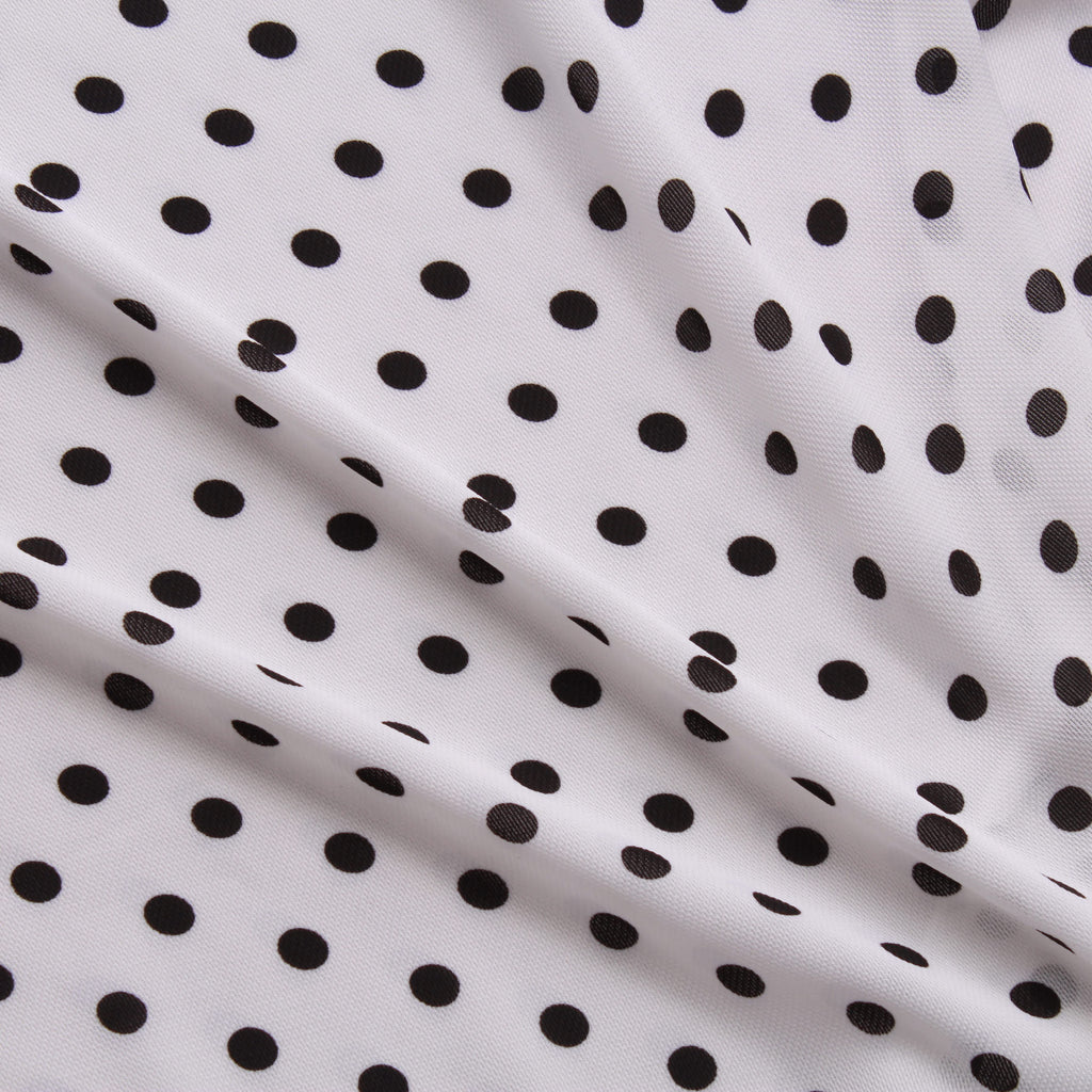 Polka Dot - 100% Polyester Printed Gaoli Voile, 150cm Wide, 110GSM
