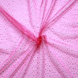 "Spot Organza Fabric Cerise 100% Nylon , 60"" Wide"