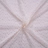 "Spot Organza Fabric Ivory 100% Nylon , 60"" Wide"