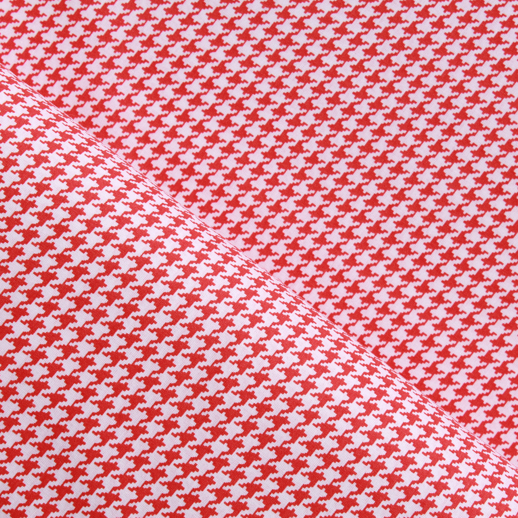 Dogtooth Cotton Printed Poplin - Orange