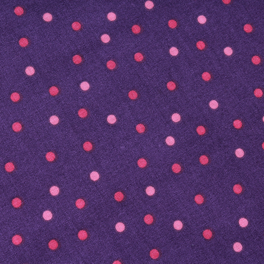 Polka Dot, Premium Printed Quilting Quality Cotton Purple