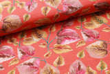 100% Rayon Fabric, Floral Leaves
