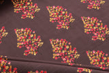 100% Rayon Fabric, Pink & Gold on Grey