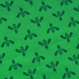 Wasps & Bees, Green, Premium Printed Quilting Quality Cotton