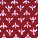 Wasps & Bees, Wine, Premium Printed Quilting Quality Cotton