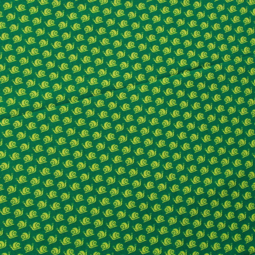 Snail Trail Green, Premium Printed Quilting Quality Cotton