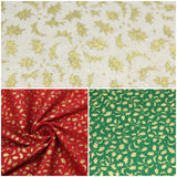 100% Cotton Poplin - Festive Leaves - 44