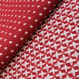 "3FOR10 Wool 'White Spots on Red' 60"" Wide"