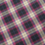 3FOR15 Polyviscose Pink/White Plaid Fabric
