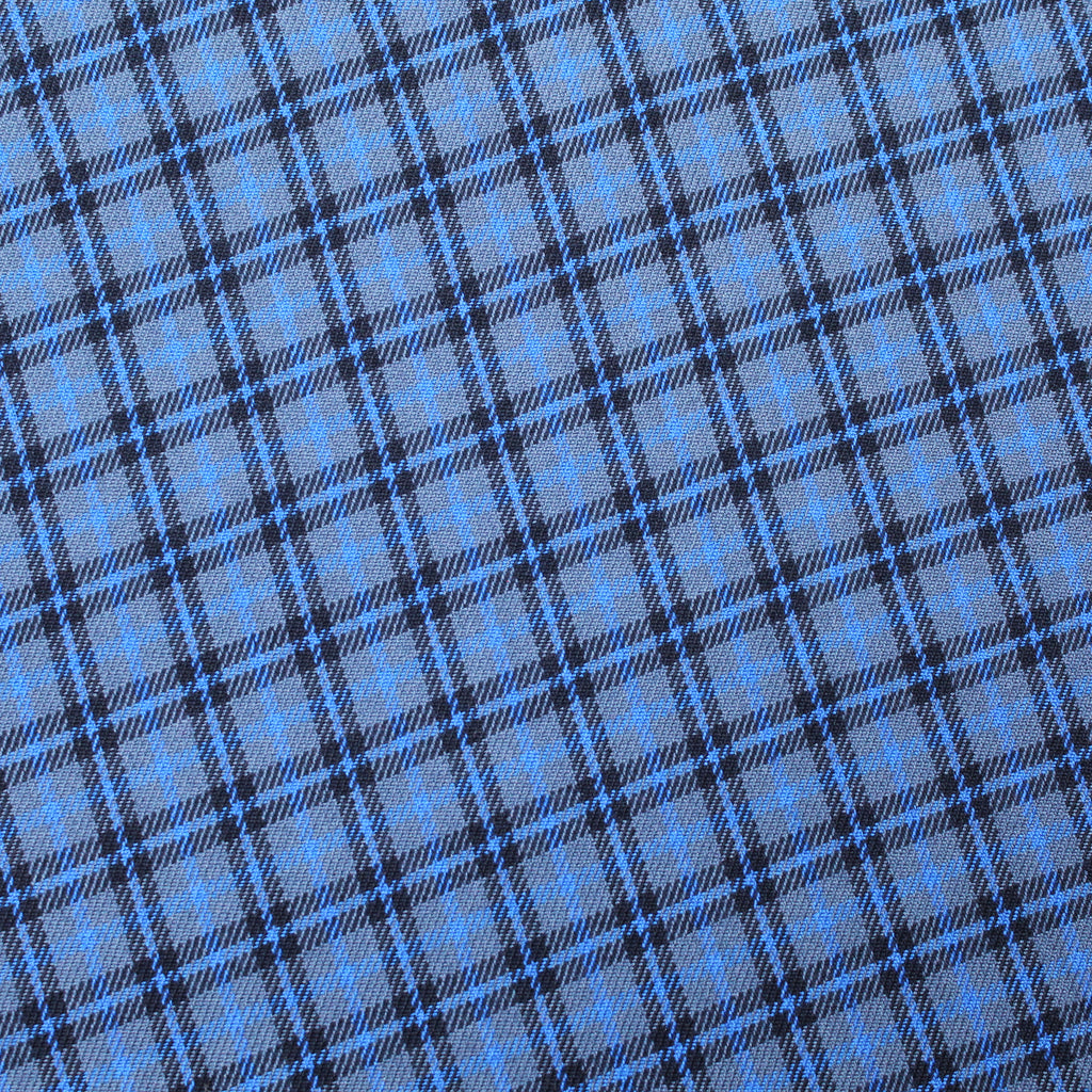 3FOR15 Polyviscose Blue/Grey Tartan Fabric