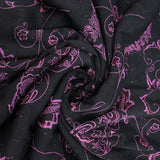 5FOR5 Black/Pink Floral Mesh Net 60""