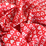 Premium Printed Christmas Polycotton Noel Hearts