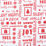 "Christmas Carols Premium Polycotton- 44"" Wide 3 Colours"