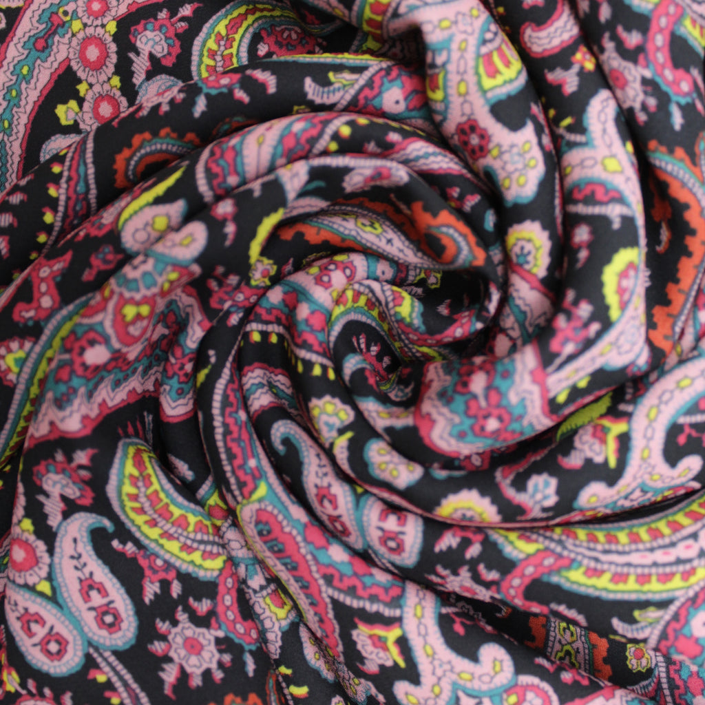 "3FOR5 Georgette Fabric 'Paisley Madness' 60"" Wide"
