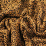 3FOR10 Mottled Brown Poly Blend Wool Fabric