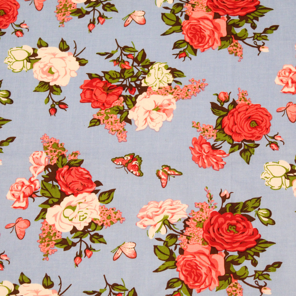 "3 Metre Bundle - Cotton Poplin - Floral Haven - 44"" wide"