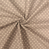"White Spots on Grey - Brushed Cotton - 60"" Wide"