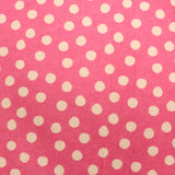 "Polka Dots on Pink - Brushed Cotton - 60"" Wide"