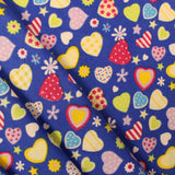 "Funky Hearts - Brushed Cotton - 44"" Wide"