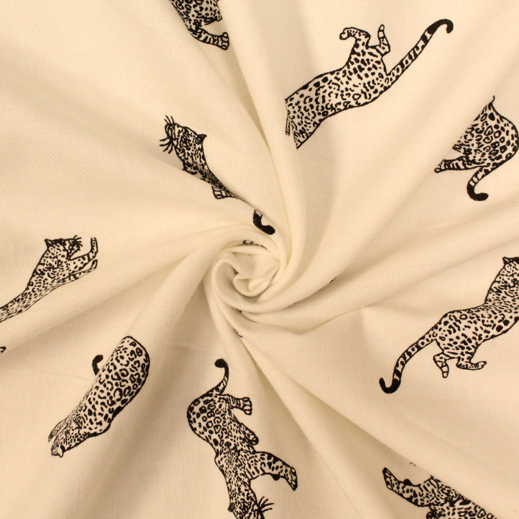 "Cheetahs - Brushed Cotton - 44"" Wide"