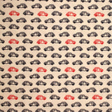 "100% Cotton Poplin - Retro Cars- 44"" Wide"
