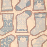 "100% Quilting Cotton - Christmas Stocking Template Panel - 44"" Wide"