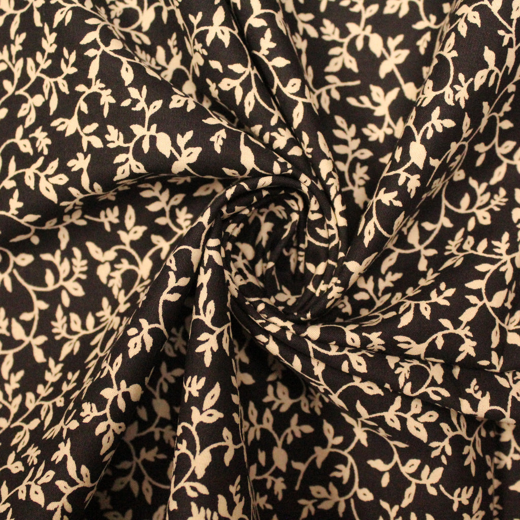 "100% Poplin Cotton -Floral Shadow - 44"" Wide"