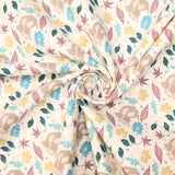 "100% Quilting Cotton - Cotton Leafy Paradise - 44"" Wide"