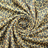"3FOR10 Printed Super soft Polyester Jersey Fabric 58"" Small Cheetah Print"