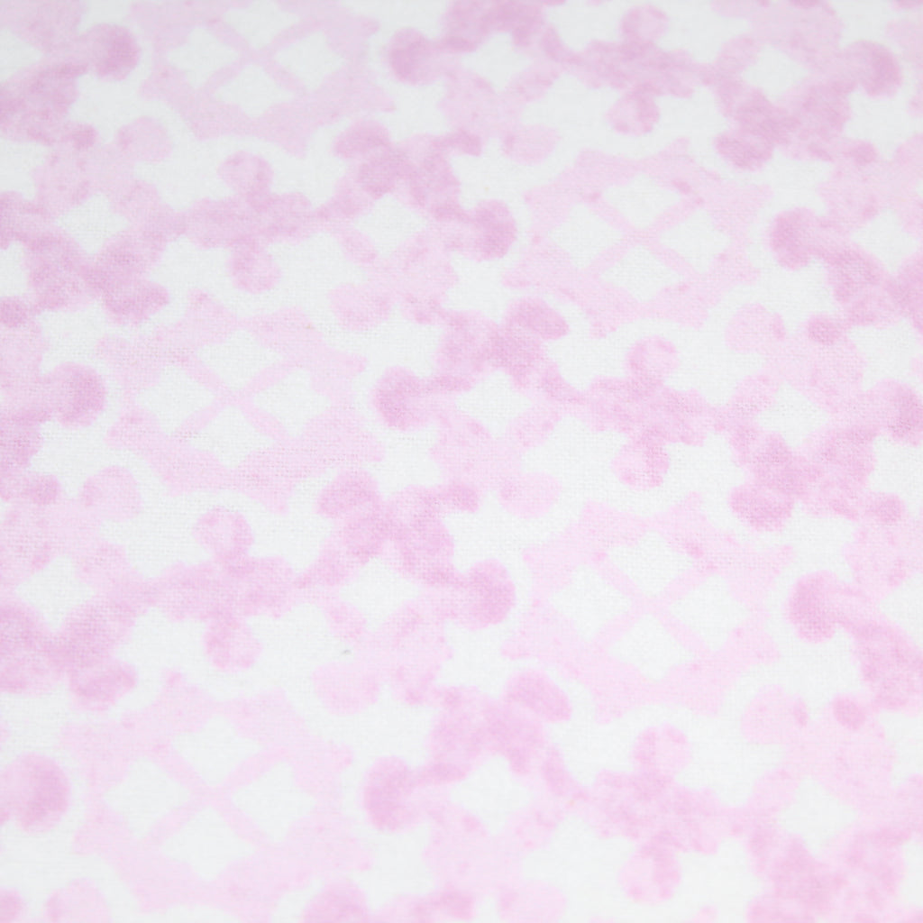 "Brushed Cotton, Pink Abstract - 44"" Wide"