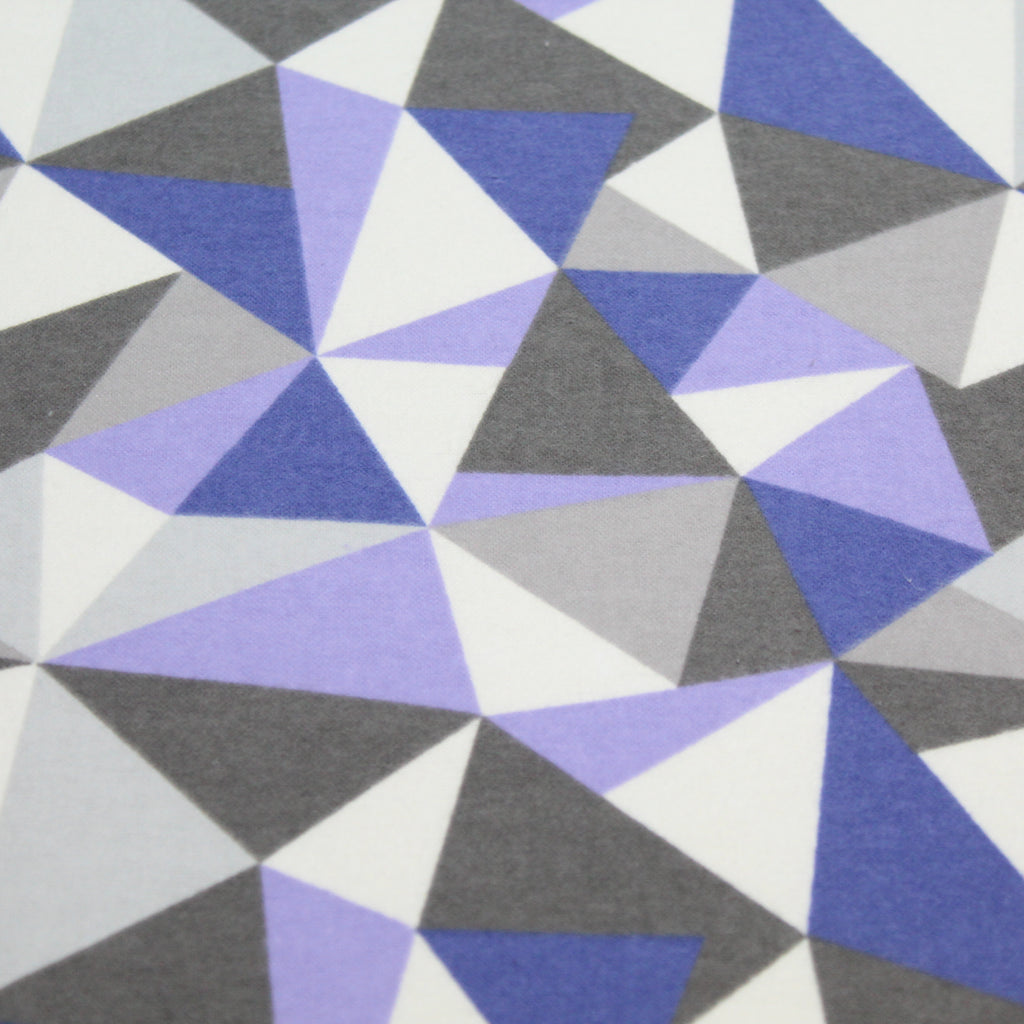 "Brushed Cotton, Geometric Triangles - 60""Wide"