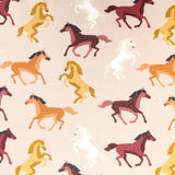 "Soft Polycotton Fabric - 'Horses' Print- 44"" Wide"