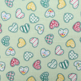 "Soft Polycotton Fabric - 'Love Hearts' - 44"" Wide"