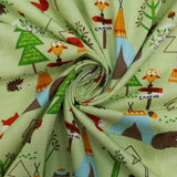 "Soft Polycotton Fabric - 'Forest'- 44"" Wide"